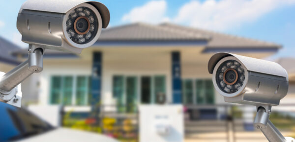 CCTV Home camera security operating at house.